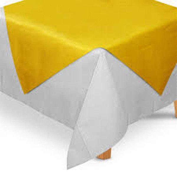 Toalha de Mesa TNT Convidados Amarelo - 70x70