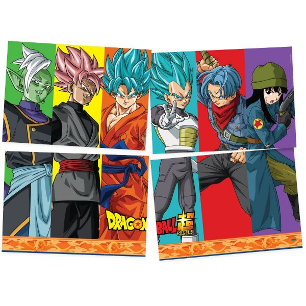 Painel 4 Folhas - Dragon Ball Z