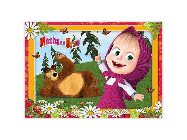 Painel 4 Folhas - Masha e o Urso