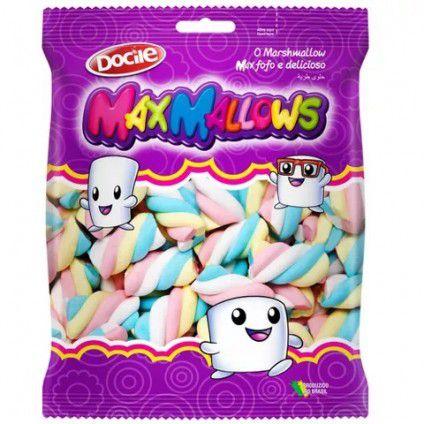 Marshmallow Twist Azul, Rosa, Amarelo e Branco 250g
