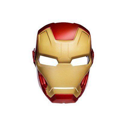Máscara Plástica Rosto Inteiro - Homem de Ferro
