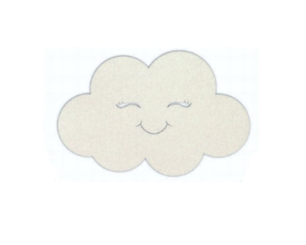 Painel Decorativo Nuvem - Branca 37x58cm