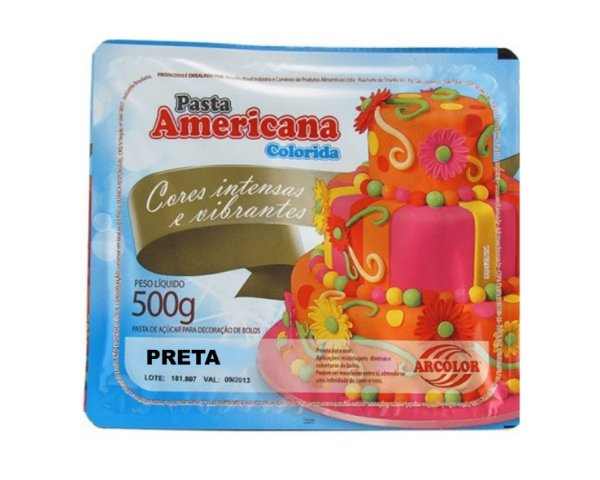 Pasta Americana Colorida - Preta 500g