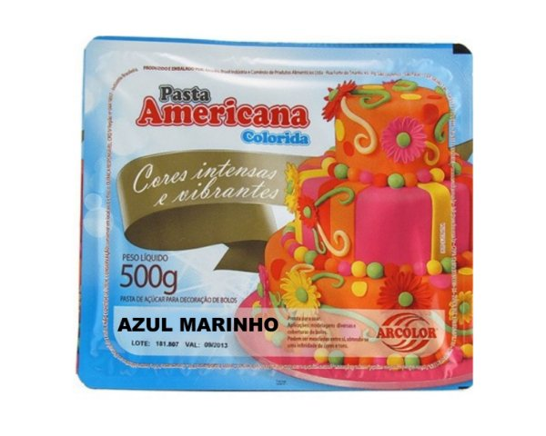 Pasta Americana Colorida - Azul Marinho 500g