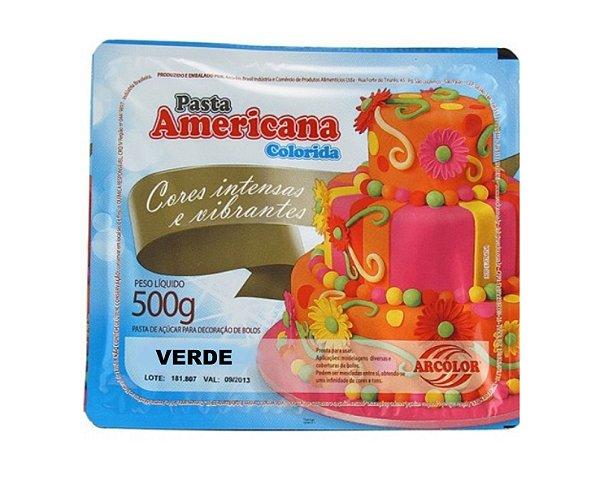 Pasta Americana Colorida - Verde 500g