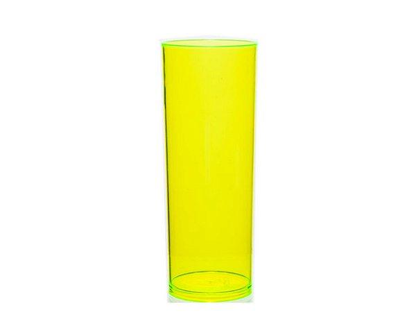 COPO ACRÍLICO LONG DRINK 300ML - AMARELO NEON