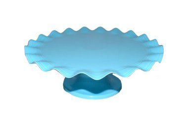 Boleira Plástica  - Azul Claro Ondulada - 26cm