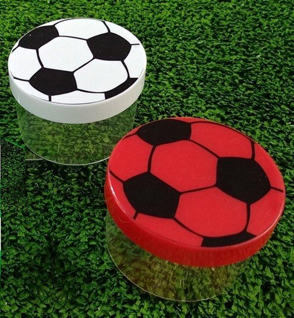 Potinho Bola de Futebol - Vermelho e preto