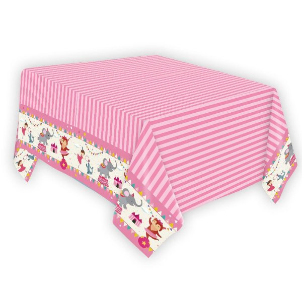 Toalha de Papel- Circo Rosa