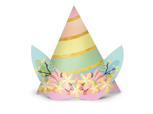 Chapéu de Aniversário - Unicórnio - 08 unidades