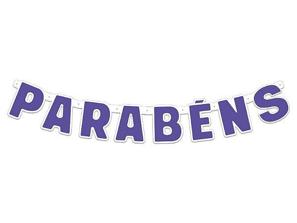 Faixa Parabéns - Festa Colors - Violeta