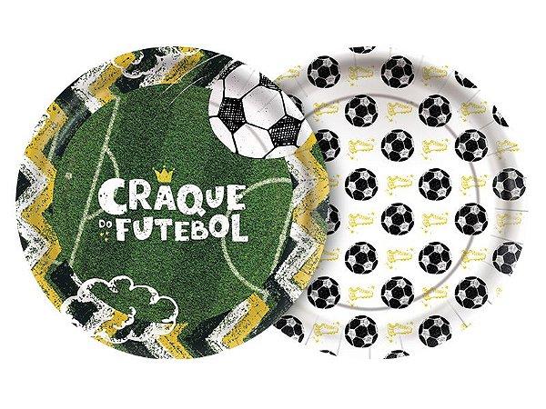 Prato Descartável Futebol - 08 unidades