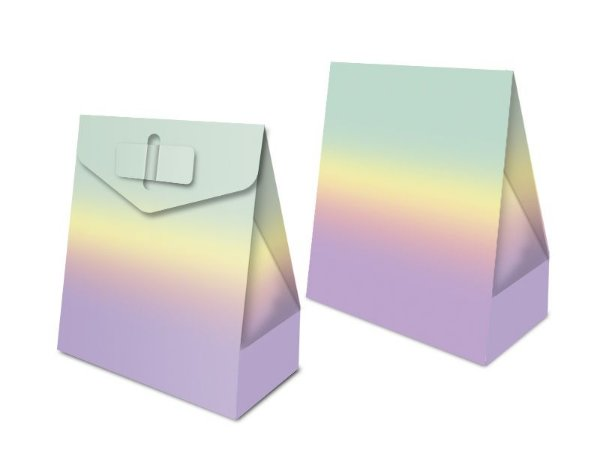 Caixa Surpresa Festa Colors - Ombre Arco-Iris