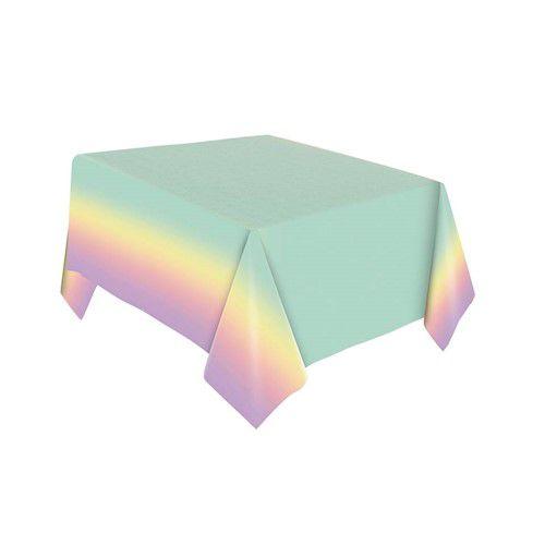 Toalha de Mesa Papel - Festa Colors - Ombré Arco Ìris