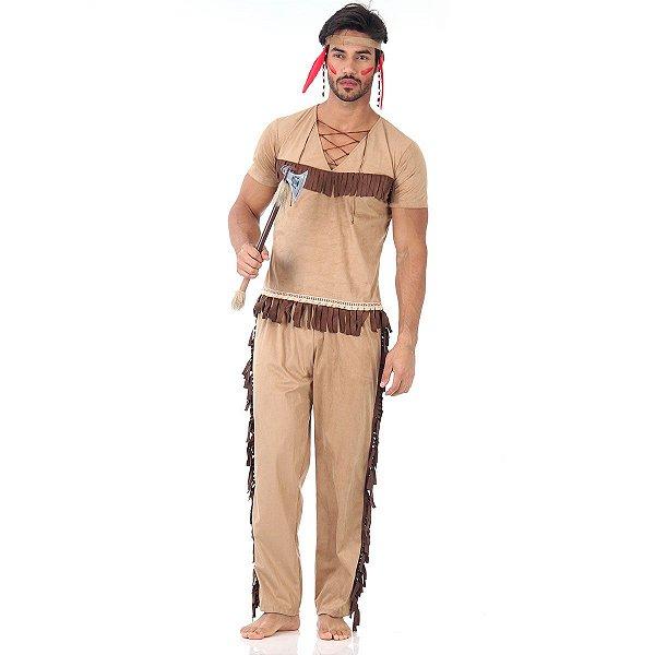 Fantasia adulto Masculino - Índio  P