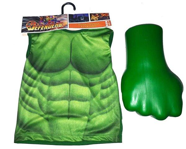 Kit Hulk Fantasia - Blusa + Luva - M