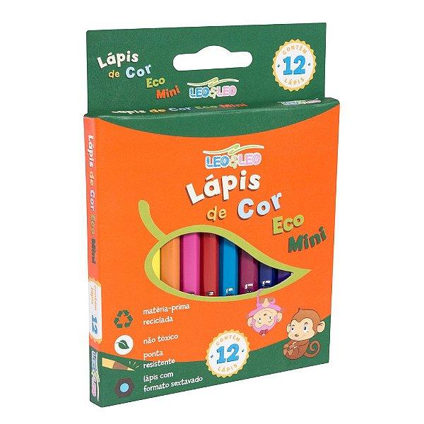 Lápis de Cor Eco Mini com 12 cores