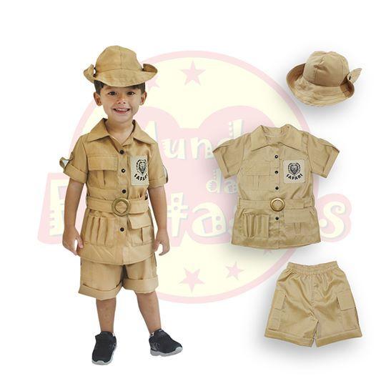 Fantasia Infantil Safari 2 anos