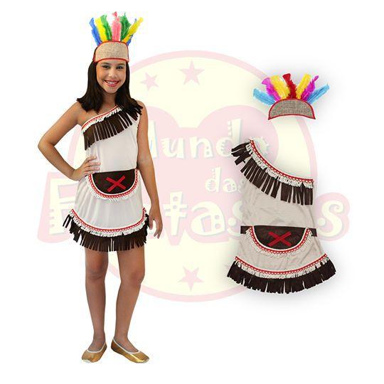 Fantasia Infantil índia Vestido - 4