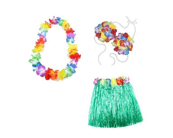 Fantasia Carnaval Feminina - Havaiana - Verde