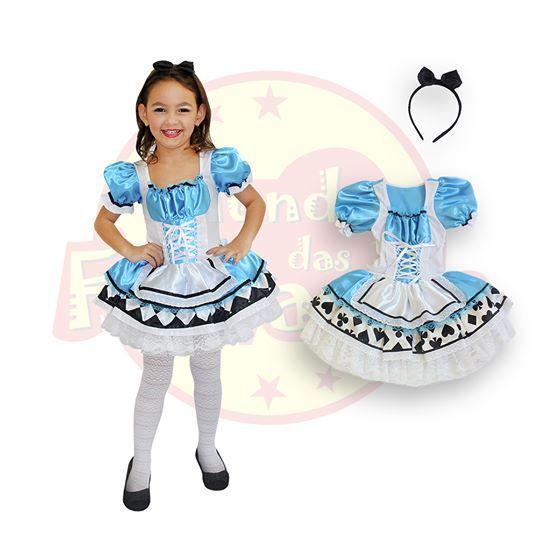 01ed963a96 Fantasia Infantil Alice no Pais das Maravilhas - 4 anos - Festas Mix ...
