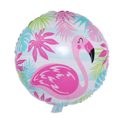 Balão Metalizado - Flamingo Tropical 45cm