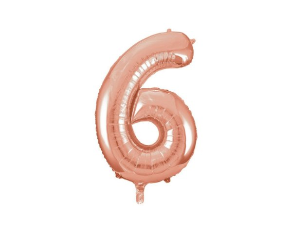 Balão Metalizados Rose Gold 40cm - Nº6