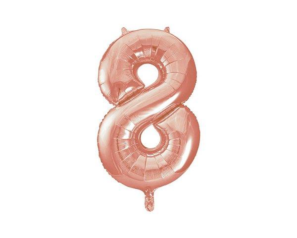 Balão Metalizados Rose Gold 40cm - Nº8