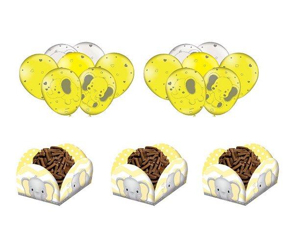 Kit Decoração - Festa Elefantinho Amarelo