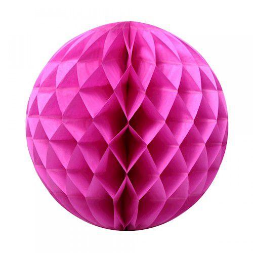 Enfeite Colméia de Papel Redonda- Rosa Pink