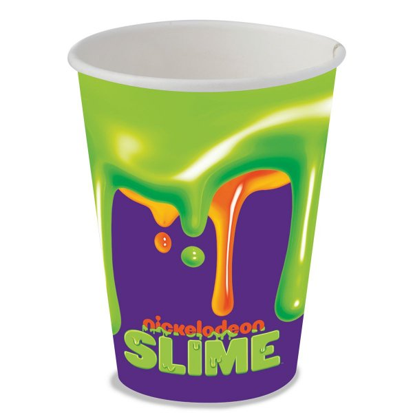 Copo de Papel 200 ml - Festa Slime - 08 unidades