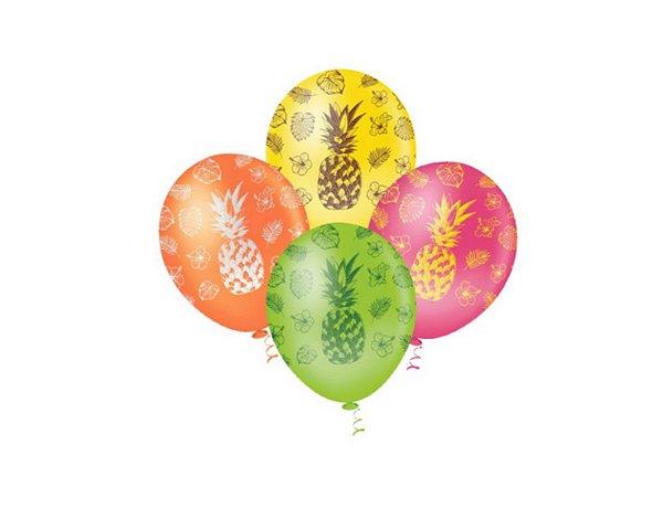 Balões Estampados N 10 - Abacaxi Sortido- 25 und-Pic Pic