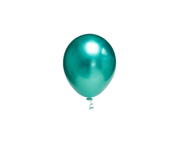 Balões Cromado Latex N 10 - Verde - 25 und- Pic Pic
