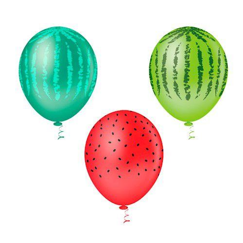 Balões Estampado N 10 - Melancia- 25 und- Pic Pic