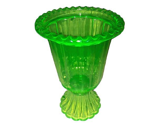 Vaso Plástico Grego - Verde Flúor Transparente