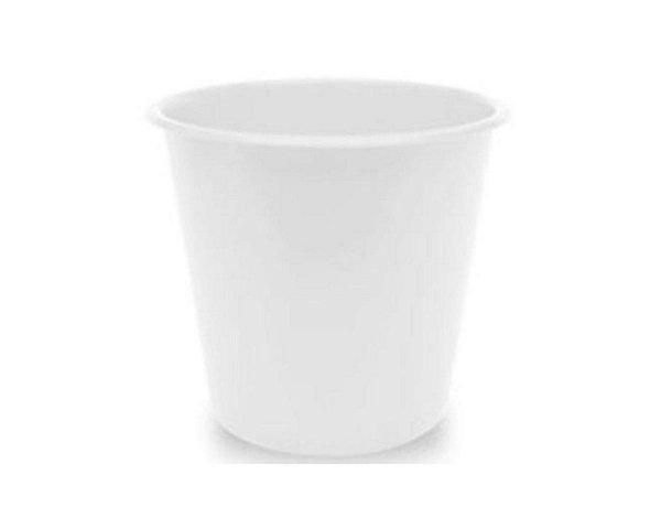 Balde Plástico de Pipoca - Branco - 01 litro
