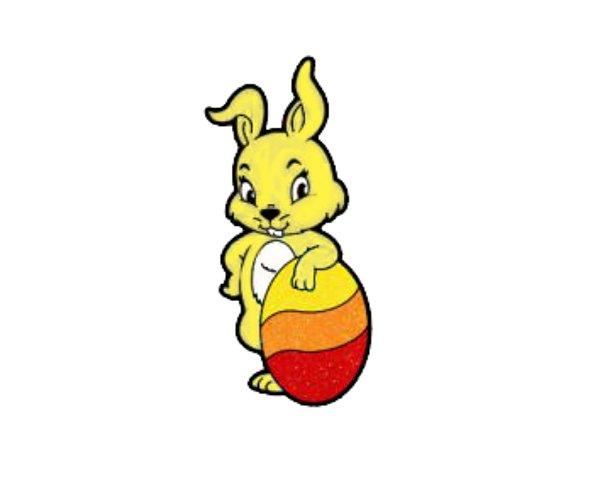 Painel Decorativo EVA - Coelho Amarelo