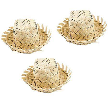 Mini Chapéu de Palha Junino - 6 cm