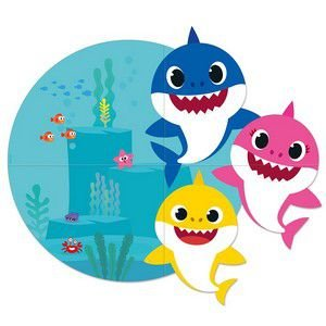 Painel Gigante 4 Partes - Baby Shark