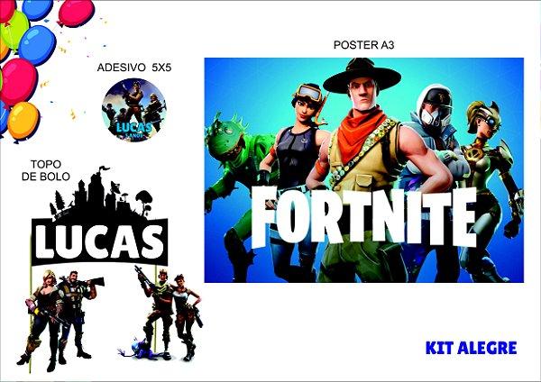 kit alegre - fortnite - 3 itens