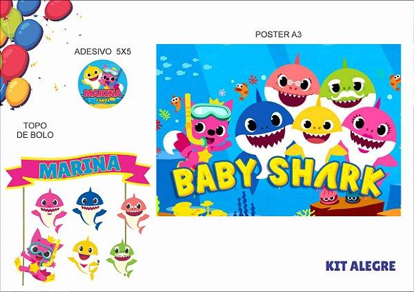 Kit Alegre - Baby Shark - 3 itens