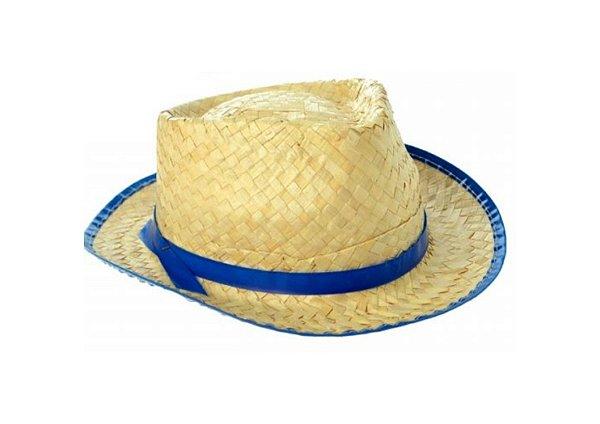 Chapéu de Palha Azul - Infantil