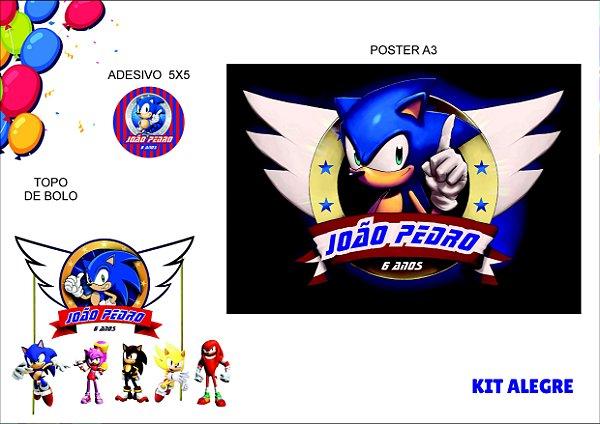 Kit Alegre - Sonic - 3 itens