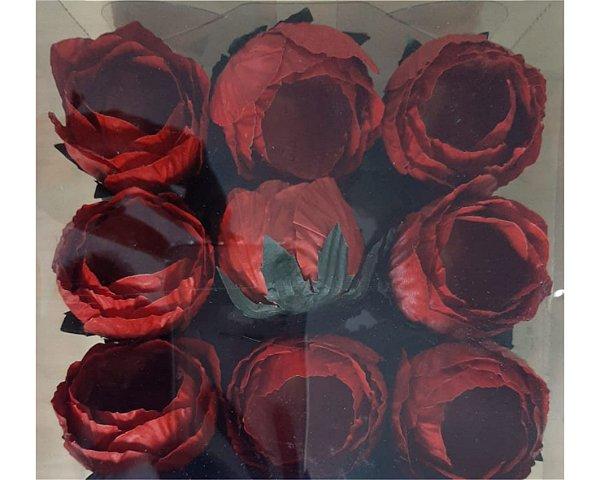Forminha para Doces Flor- Charlote - Vermelha - 24 Unidades