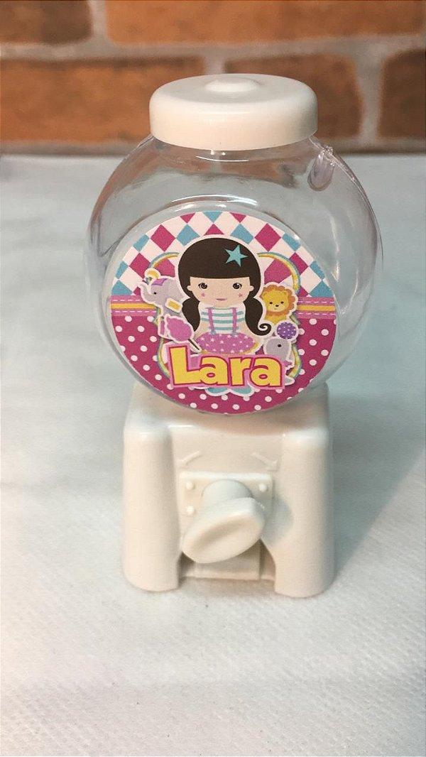 6 Mini Baleiros personalizados - Circo menina