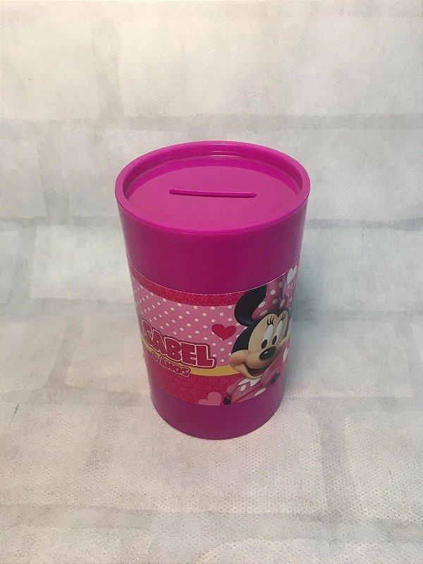 10 cofrinhos personalizados minnie rosa