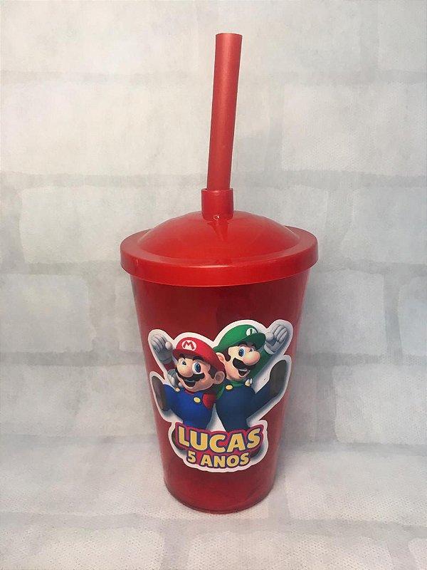 10 copos twistter personalizados - Super Mario Bros