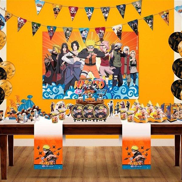 Kit Decoração de festa - 12 itens - Naruto