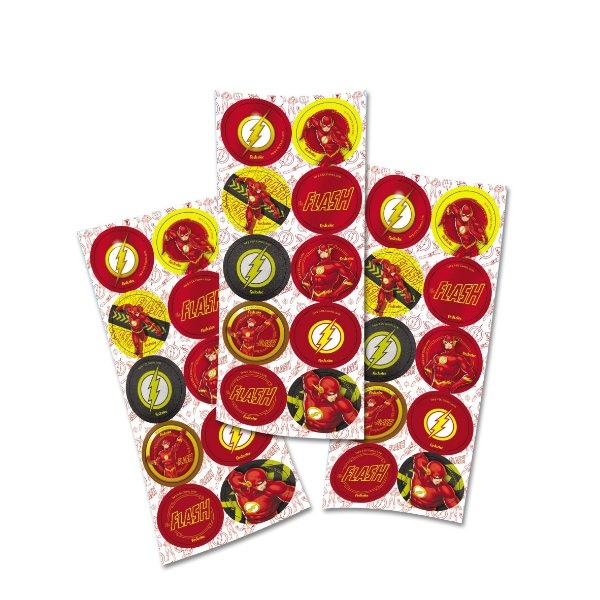 Adesivos Redondo - Flash -  03 Cartelas