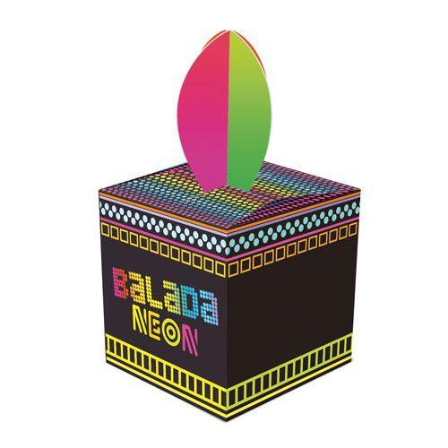 Caixa Lembrança Festa Neon Party - 08 unidades